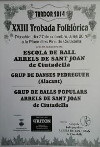 Cartell XXIIIè Trobada Folklòria Tardor