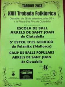 Cartell XXII Trobada Folklòrica Tardor 2013